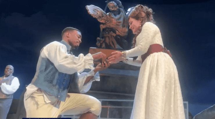 proposta di matrimonio all'opera