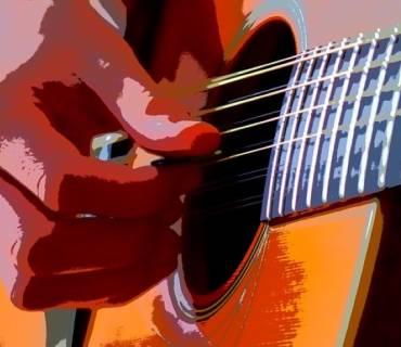 stretching chitarra